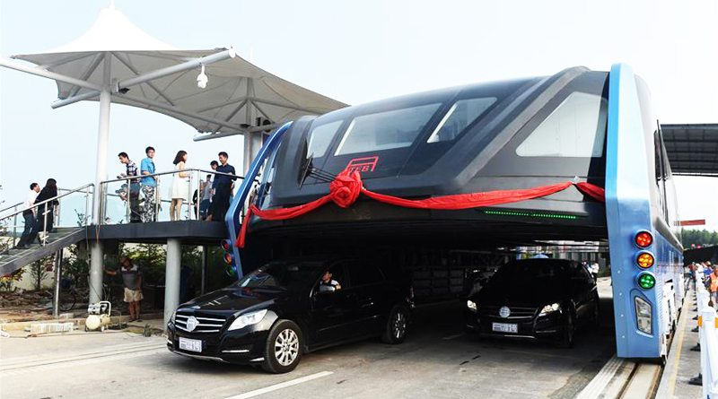 Транспорт будущего, китайский парящий автобус