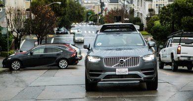 Беспилотник Uber Volvo