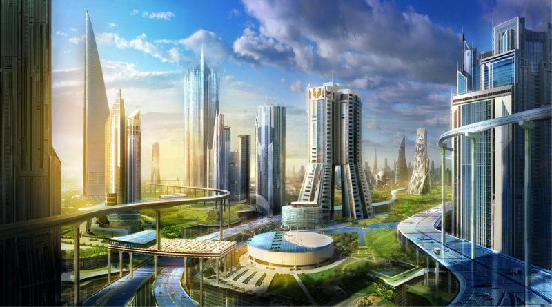 город будущего | Фото: hdwall.us