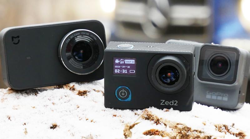 AC Robin ZED2, GoPro Hero 6, Xiaomi Yi 4K