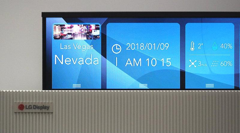 Гибкий телевизор LG | Фото: Engadget