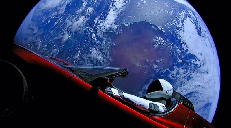 Tesla в космосе | Фото: The Verg