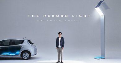 Батареи Nissan Leaf запитают фонари на улицах