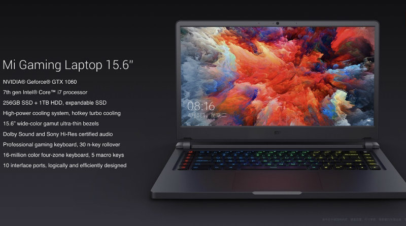 Xiaomi Mi Gaming Laptop | Фото: Xiaomi