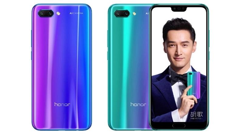Honor 10 получил необычные цвета корпуса
