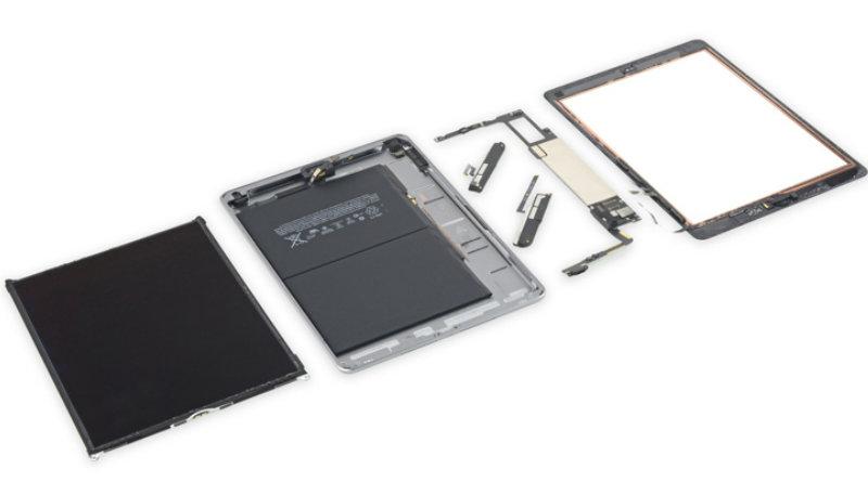 Разобранный iPad | Фото: iFixit