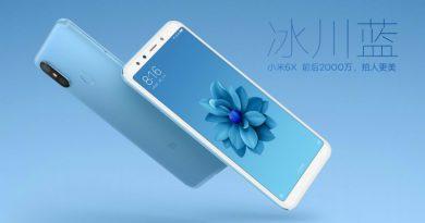 Xiaomi Mi 6X (Mi A2) получил камеры на 20 Мп