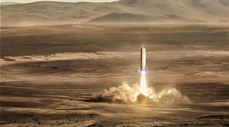 Марсианская база | Фото: Elon Musk