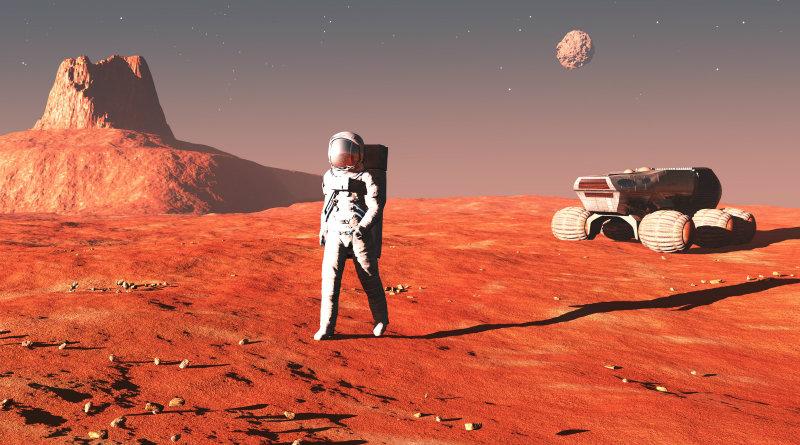 На Марсе   Фото: steemitimages