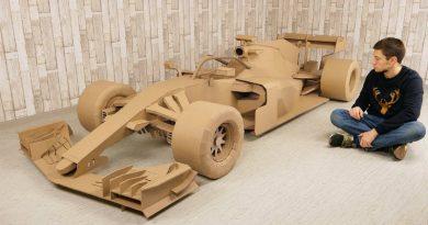 Болид Формулы-1 построили из картона