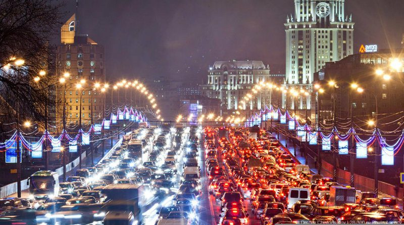 Пробка в Москве   Фото: vistanews