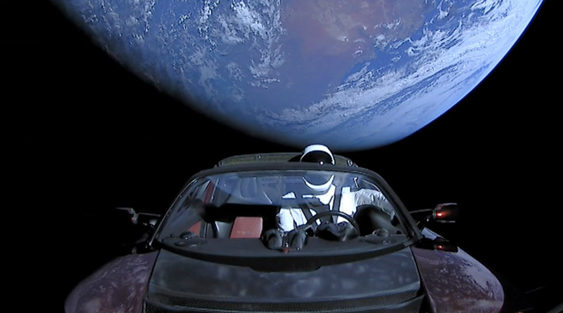 Tesla в космосе | Фото: aolcdn.com