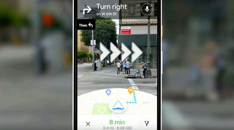 Google Maps с дополненной реальностью | Фото: engadge