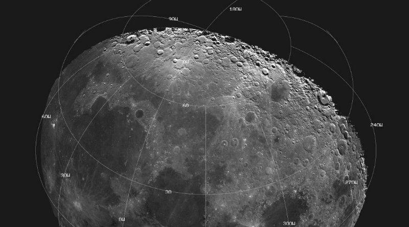 Карта Луны | Фото: astronet.ru