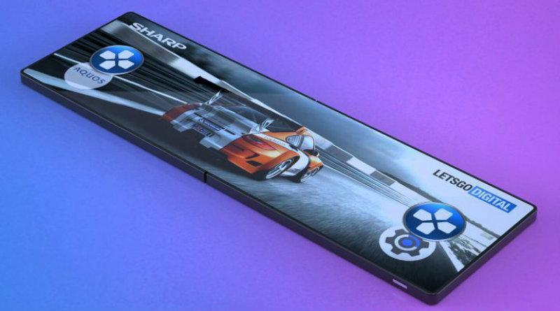 Гибкий смартфон Sharp