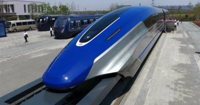 В Китае сделали поезд, который едет 600 км/ч