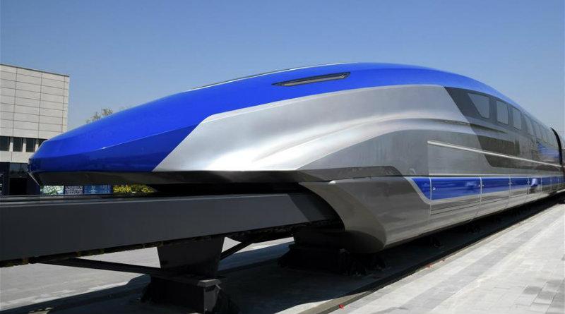 Поезд на магнитной подушке | Фото: xinhuanet