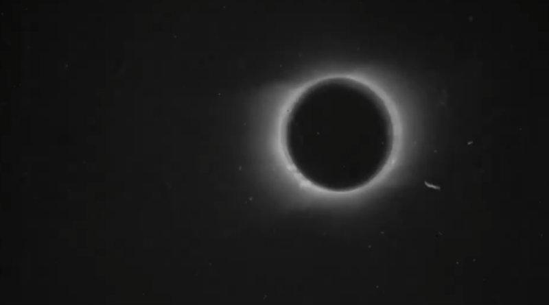 Первый в мире видеролик с солнечным затмением