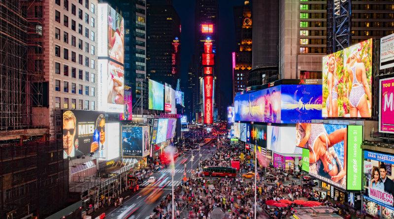 Дисплеи Samsung на Таймс-Сквер