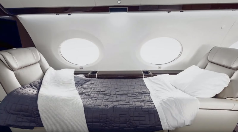 Кровать на Gulfstream G650ER