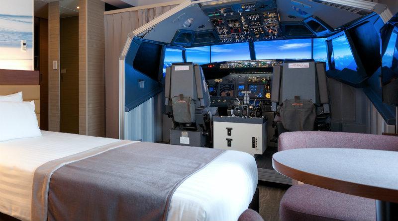 Симулятор самолета в отеле | Фото: https://kotaku.com