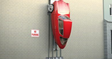 Эстонский электрокар можно парковать на стене