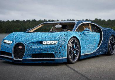Bugatti Chiron из Lego привезли в Москву